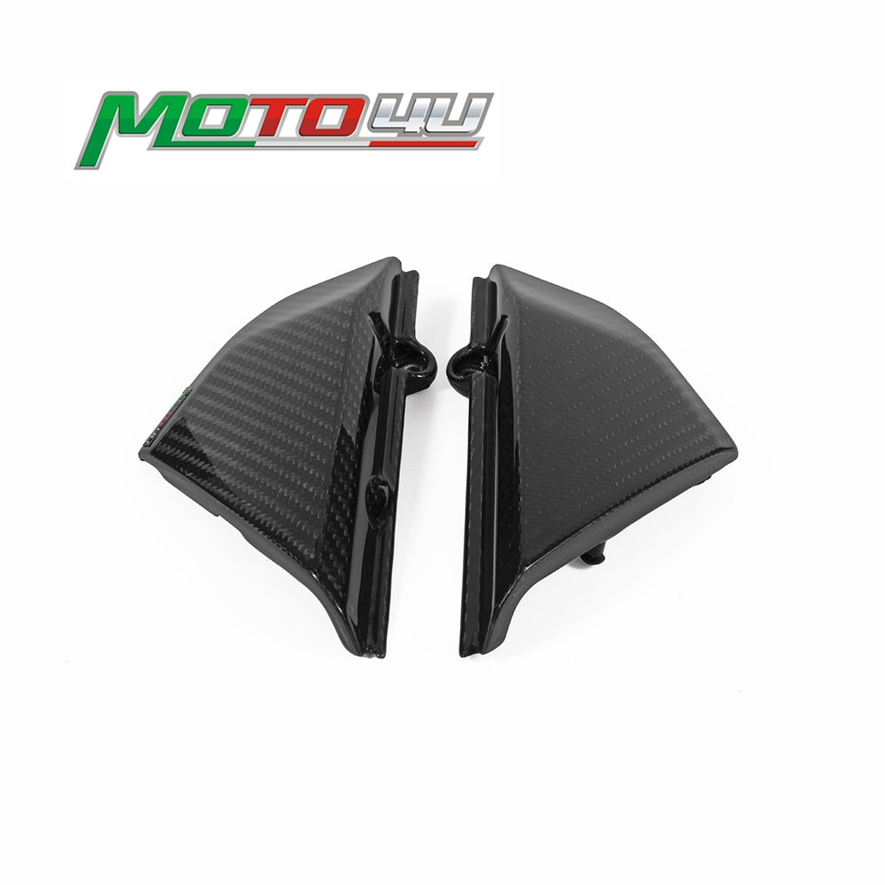 100-Carbon-Fiber-Motorcycle-Side-panels-Small-Side-Covers-Gloss-Twill-Weave-Cafe-Racer-For-Ducati