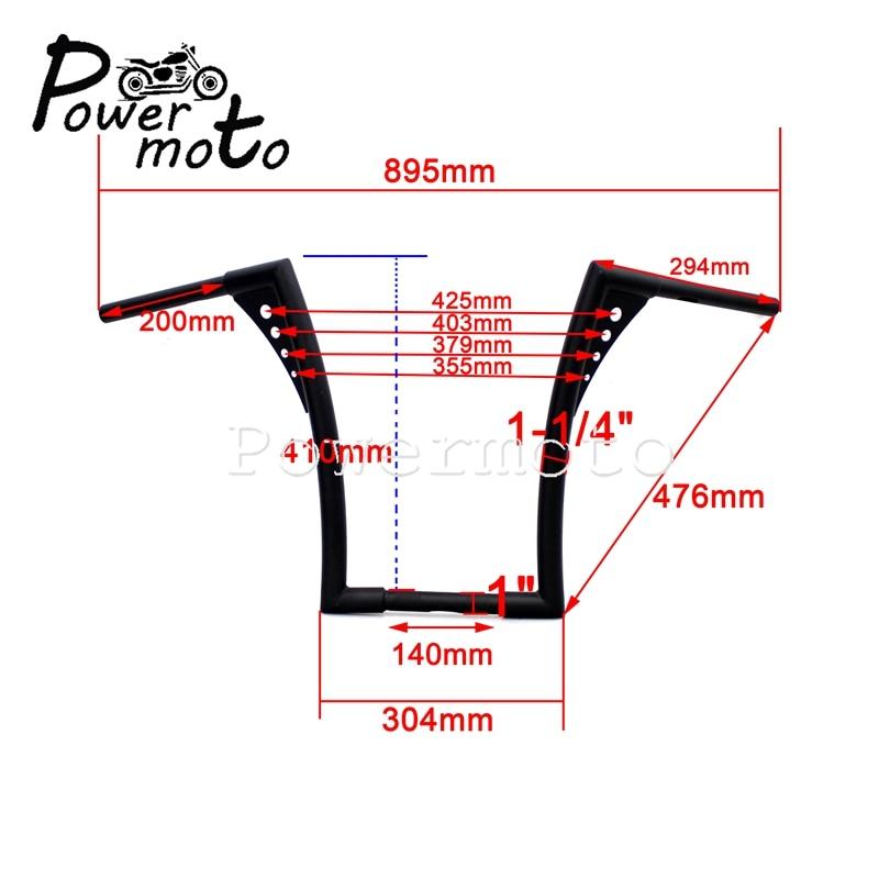16-Rise-1-1-4-Motorcycle-Chrome-APE-Hanger-Handlebars-For-Harley-Custom-Softail-FLST-FXST-11