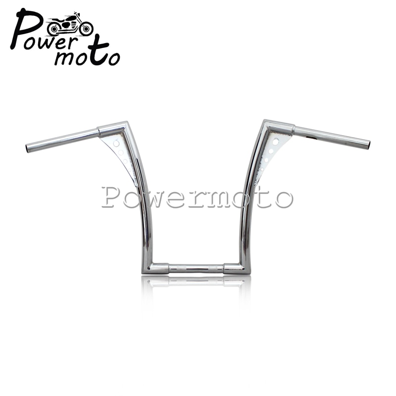 16-Rise-1-1-4-Motorcycle-Chrome-APE-Hanger-Handlebars-For-Harley-Custom-Softail-FLST-FXST-2