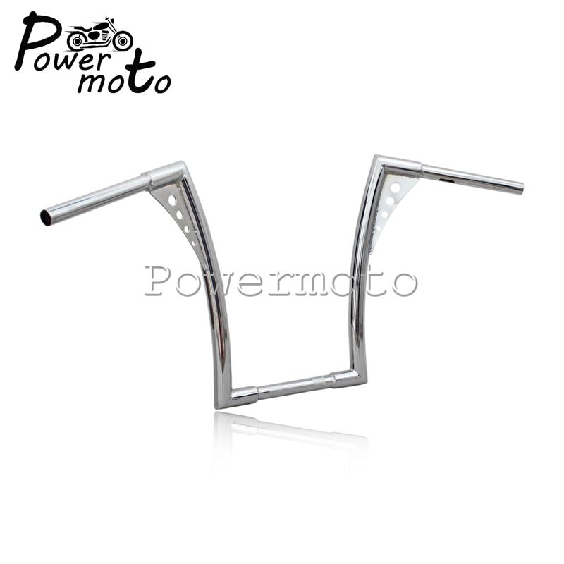 16-Rise-1-1-4-Motorcycle-Chrome-APE-Hanger-Handlebars-For-Harley-Custom-Softail-FLST-FXST-4