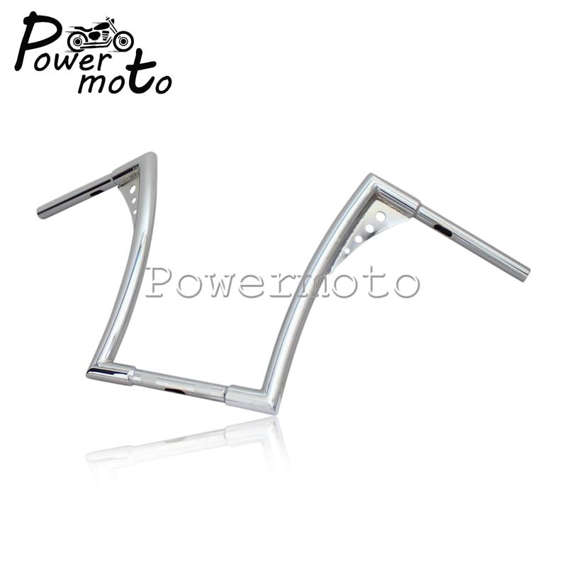 16-Rise-1-1-4-Motorcycle-Chrome-APE-Hanger-Handlebars-For-Harley-Custom-Softail-FLST-FXST-6