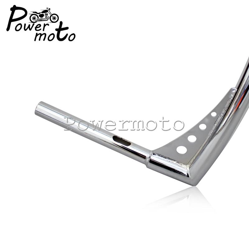 16-Rise-1-1-4-Motorcycle-Chrome-APE-Hanger-Handlebars-For-Harley-Custom-Softail-FLST-FXST-9
