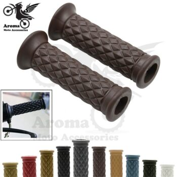 16-colors-available-brown-red-black-hot-retro-cafe-racer-parts-22MM-25MM-rubber-motorbike-grip