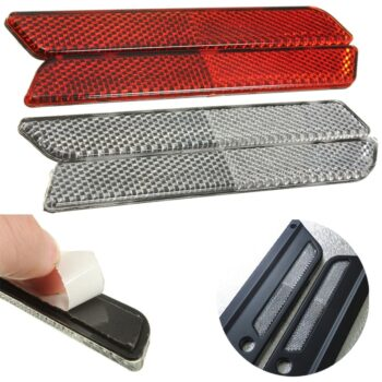 2-x-Red-White-Saddlebag-Guard-Reflector-Latch-Covers-for-Harley-Davidson-1994-2013-Touring-FLT