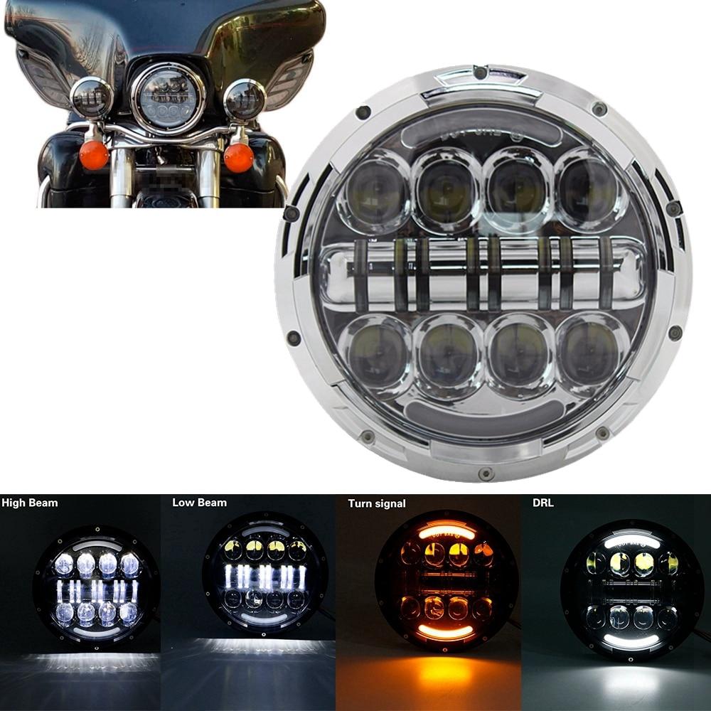 7-Inch-H4-LED-moto-Headlight-For-Harley-Davidsion-Softail-Slim-Fat-Boy-7inch-Halo-Angel-6