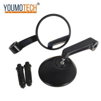 Black-7-8-Handlebar-End-Mirrors-Oval-Custom-Classic-Side-Mirrors-Chopper-Bobber-Cafe-Racer-ATV