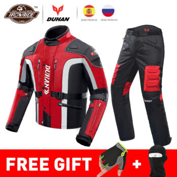 DUHAN-Autumn-Winter-Cold-proof-Motorcycle-Jacket-Moto-Protector-Motorcycle-Pants-Moto-Suit-Touring-Clothing-Protective