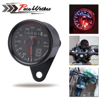 Free-Shipping-Universal-Motorcycle-Cafe-Racer-Speedometer-odometer-Gauge-0-160-km-u-Instrument-with-LED