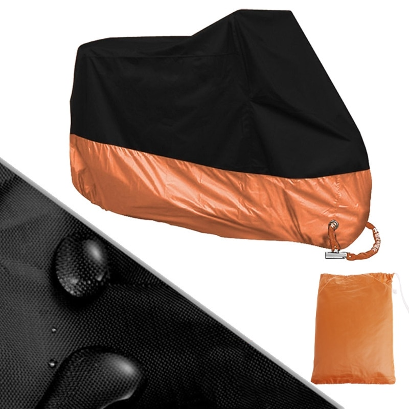 Free-delivery-Orange-L-XL-XXXL-Motorcycle-Cover-Waterproof-For-Harley-Davidson-Street-Glide-Touring-Drop-1
