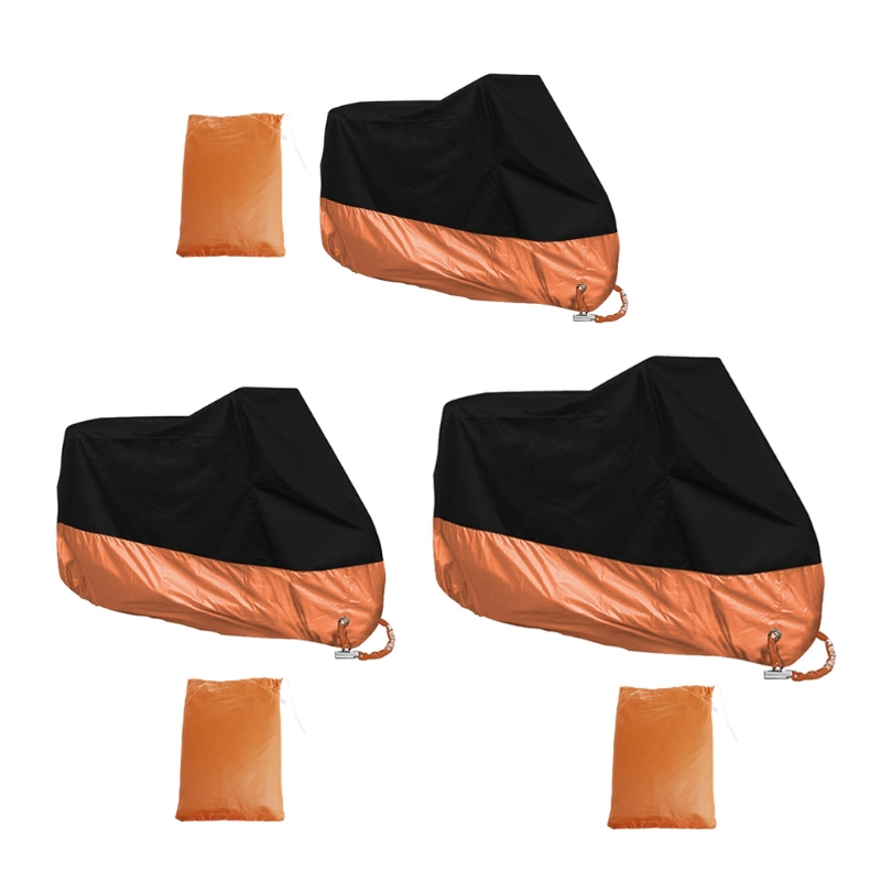 Free-delivery-Orange-L-XL-XXXL-Motorcycle-Cover-Waterproof-For-Harley-Davidson-Street-Glide-Touring-Drop