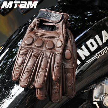 Genuine-Motorcycle-Retro-Gloves-cowhide-Leather-Autumn-Winter-Warm-Touch-Screen-Full-Finger-Black-motocross-Gloves