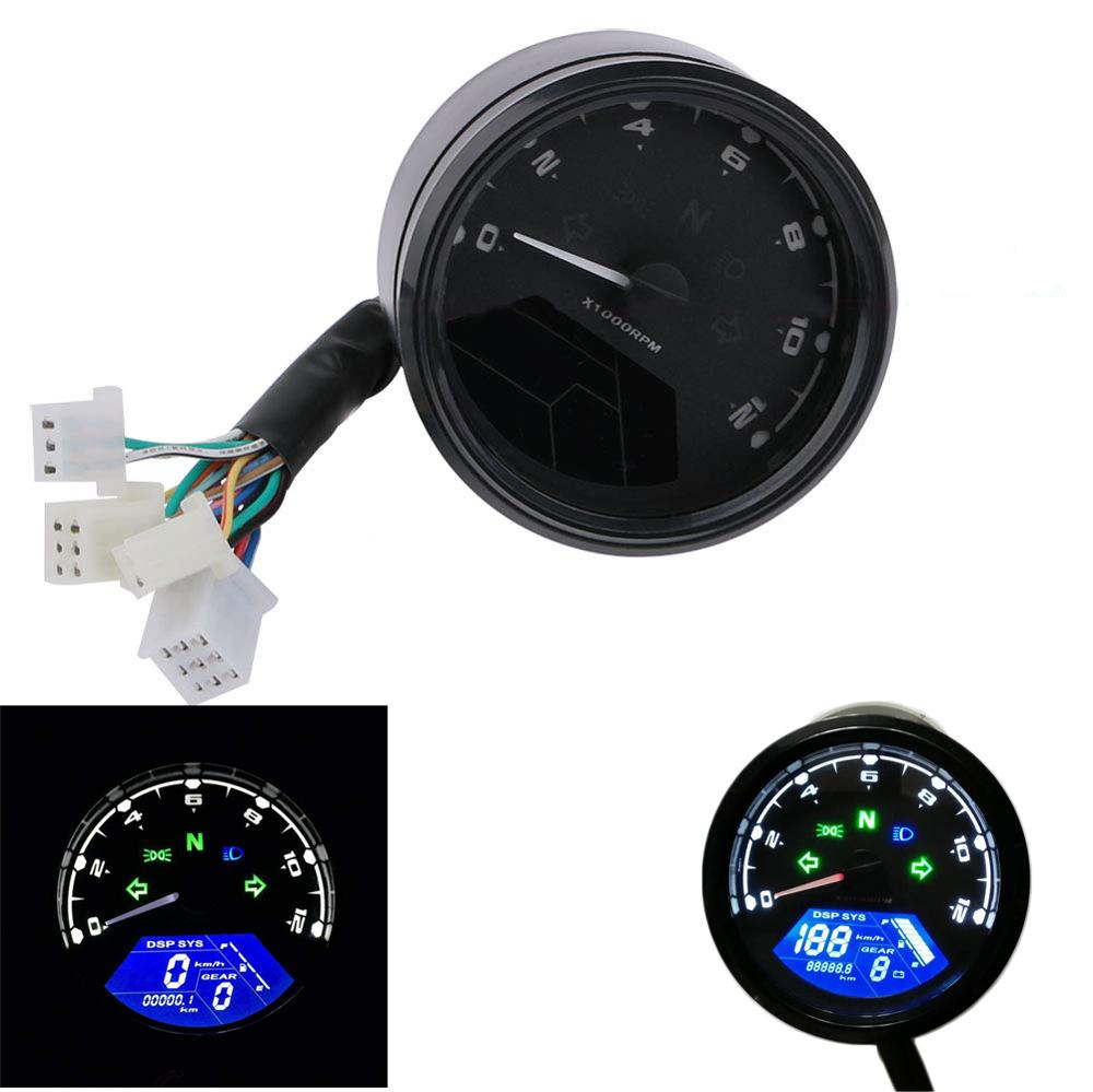 Lcd Digital Motorcycle Speedometer Universal Waterproof