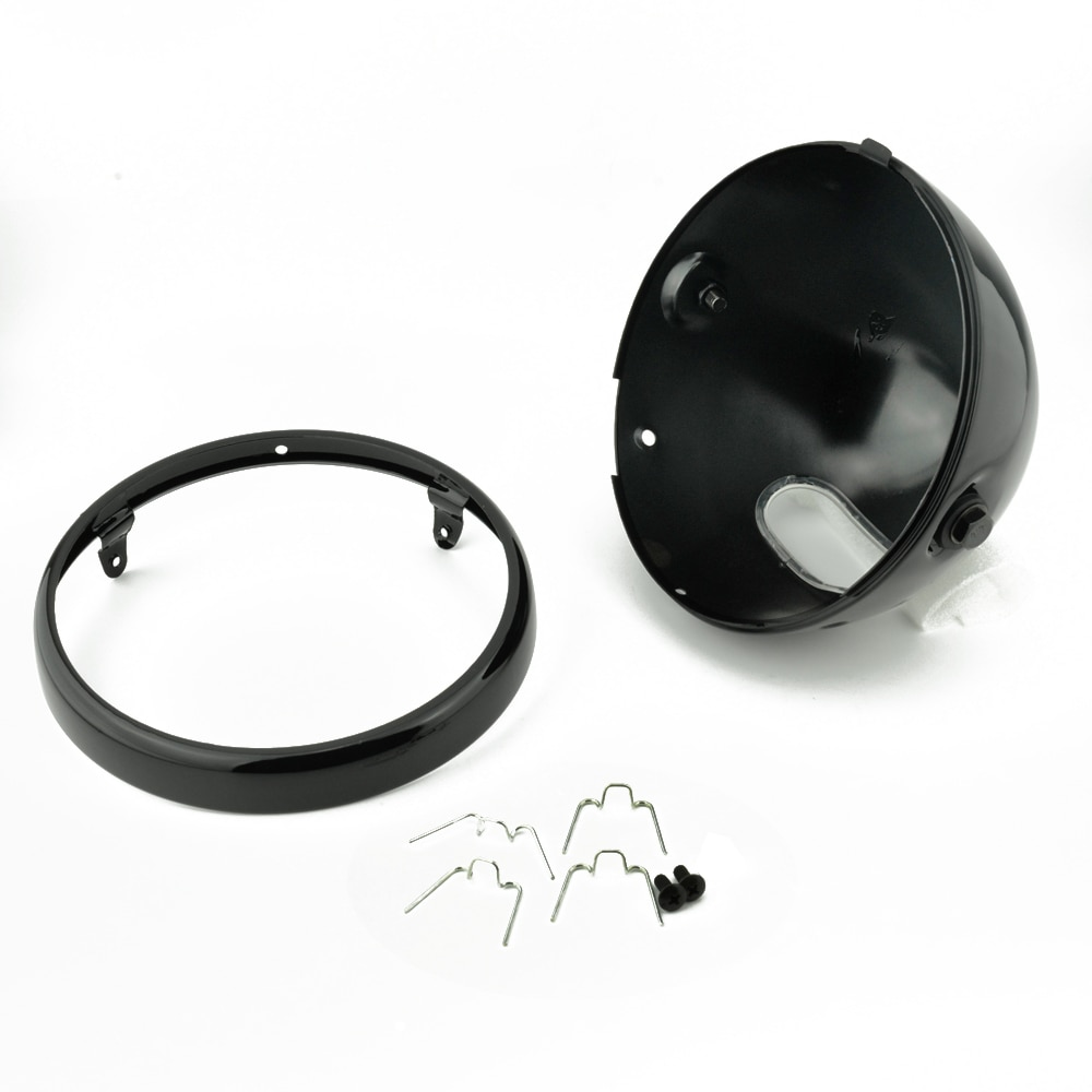 Motorcycle-7-LED-Vintage-Headlight-Mounting-Bucket-7-Inch-Running-Light-Shell-Housing-Cover-for-Cafe-1