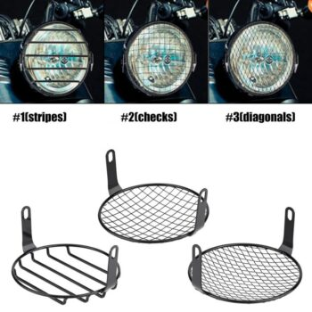 New-6-5-Motorcycle-Side-Mount-Headlight-Round-Grill-Cover-Mask-Led-Headlights-Grill-Cover-CNC