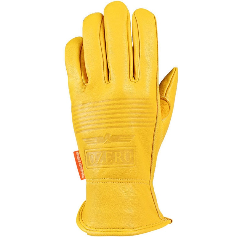 Yellow Sheep skin leather driving gloves for Men