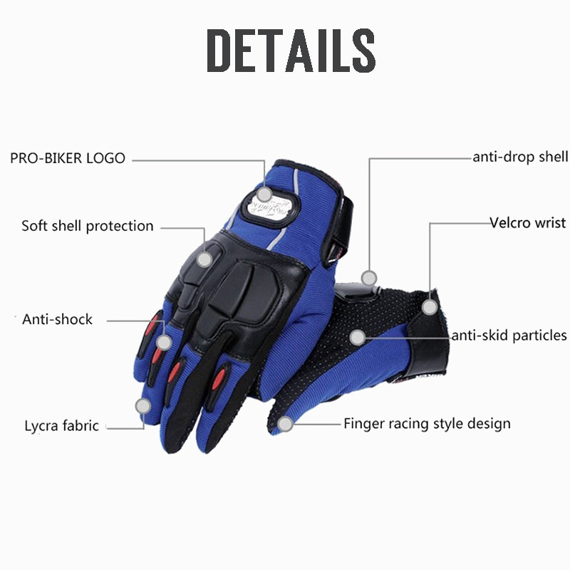 PRO-BIKER-Motorcycle-Gloves-leather-Bike-full-finger-Protective-gear-Guantes-Gant-Racing-Mountain-Bike-Guantes-3