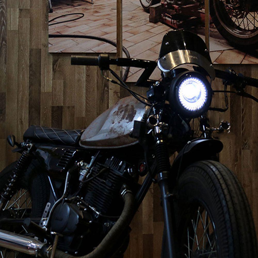Retro-6-5-LED-Motorcycle-Headlight-DRL-Motobike-Headlamp-Bracket-Fog-High-Low-Beam-Bulb-for-3