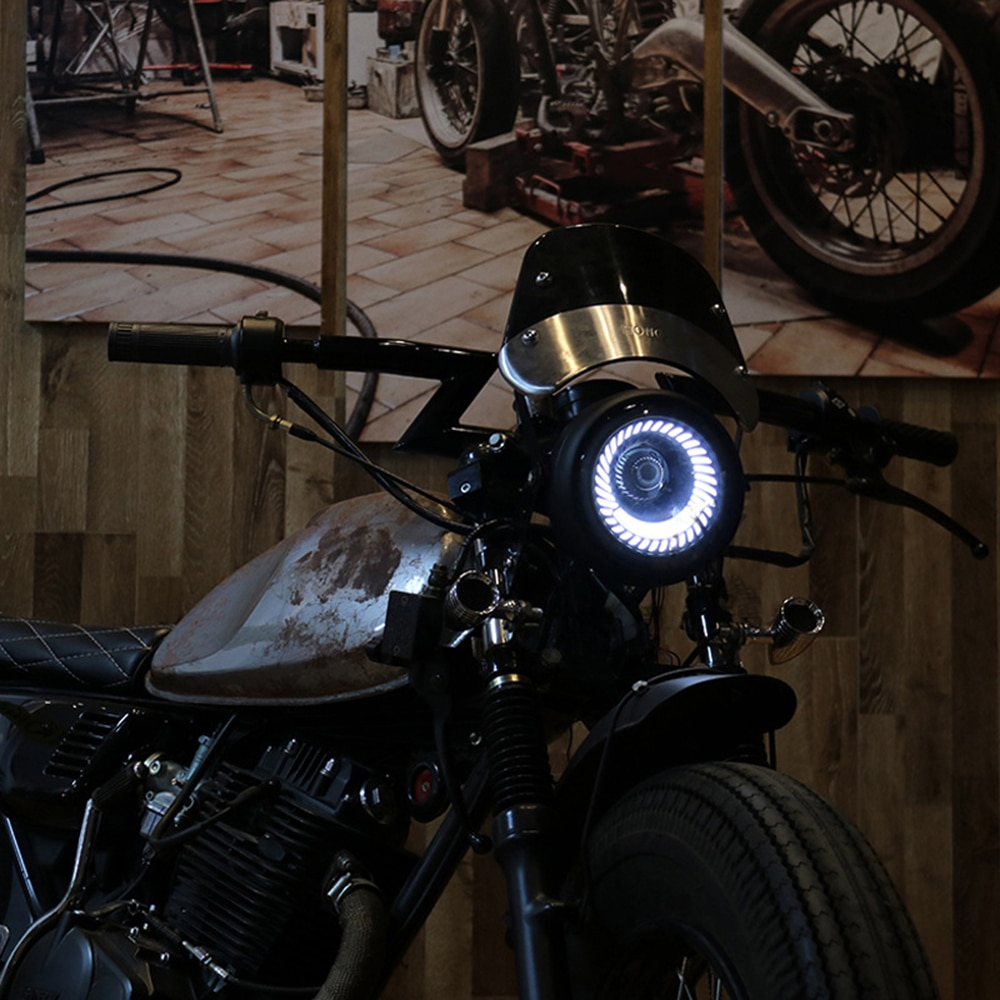 Retro-6-5-LED-Motorcycle-Headlight-DRL-Motobike-Headlamp-Bracket-Fog-High-Low-Beam-Bulb-for-4