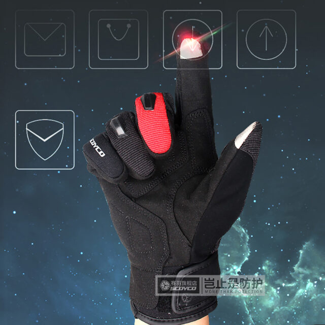 Genuine Leather Gloves Full Finger Motorcycle Driving Winter Touch Screen