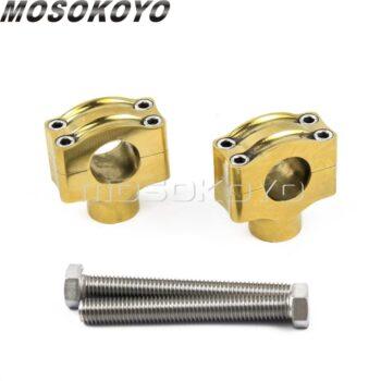 Solid-Brass-1-25-4mm-Handlebar-Riser-Retro-Rough-Craft-Handle-Bar-Mount-for-Harley-XL883