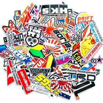 100PCS-Racing-Car-Stickers-Waterproof-Sticker-DIY-Motocross-Racing-Helmet-Skateboard-Bicycle-Laptop-PVC-JDM-Luggage