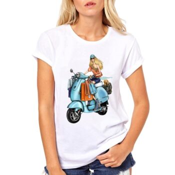 2019-Cool-Tee-Vespa-Girl-Riders-Motorcycle-T-Shirt-Women-Summer-Tops-Female-Causal-T-shirt