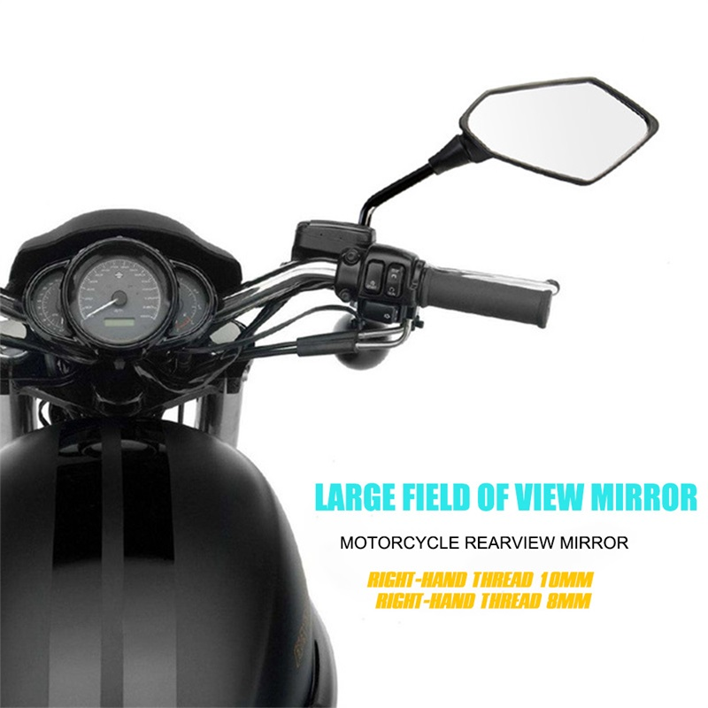 2Pcs-Universual-Motorcycle-Mirror-Scooter-E-Bike-Rearview-Mirrors-Electrombile-Back-Side-Convex-Mirror-8mm-10mm-3