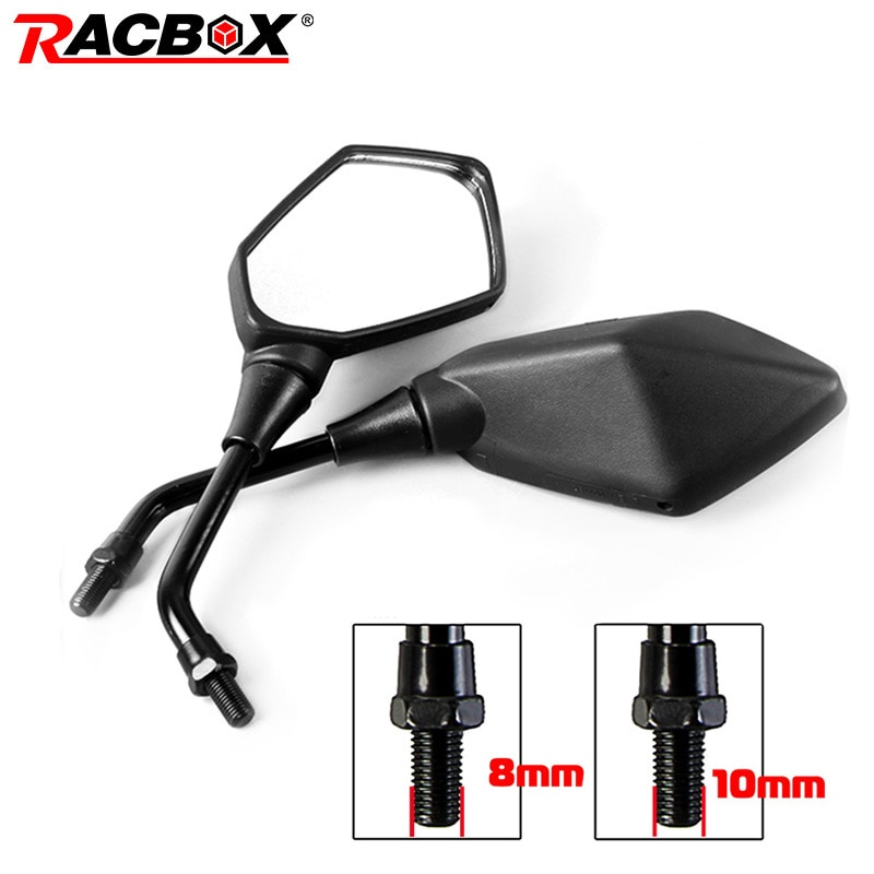2Pcs-Universual-Motorcycle-Mirror-Scooter-E-Bike-Rearview-Mirrors-Electrombile-Back-Side-Convex-Mirror-8mm-10mm