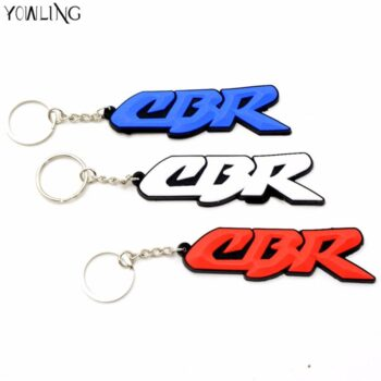 3D-motorbike-Key-Ring-white-Motorcycle-accessories-key-chain-Rubber-Keychain-For-HONDA-CBR-400-cbr600