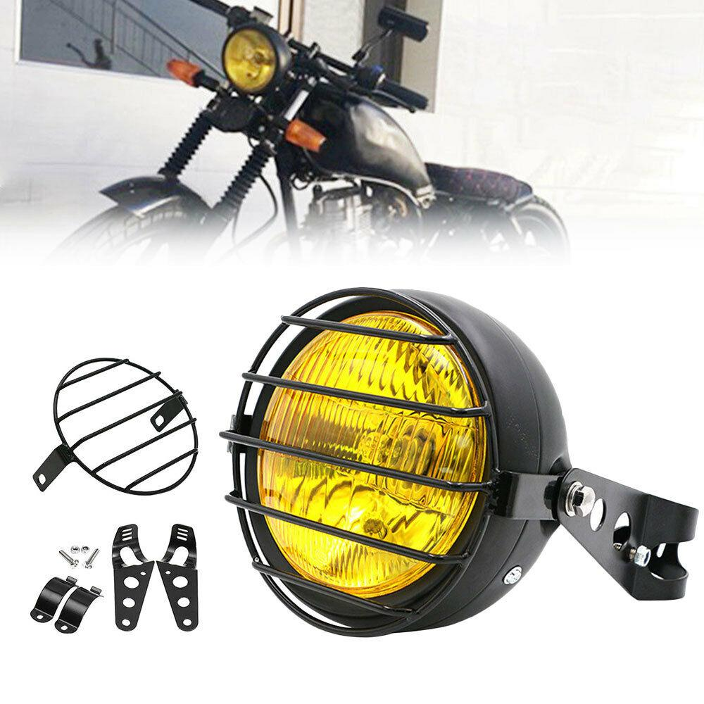 6-5-Inch-Retro-Motorcycle-Headlight-Grill-Side-Mount-Cover-with-Bracket-Motorcycle-Side-Mount-Headlight-1