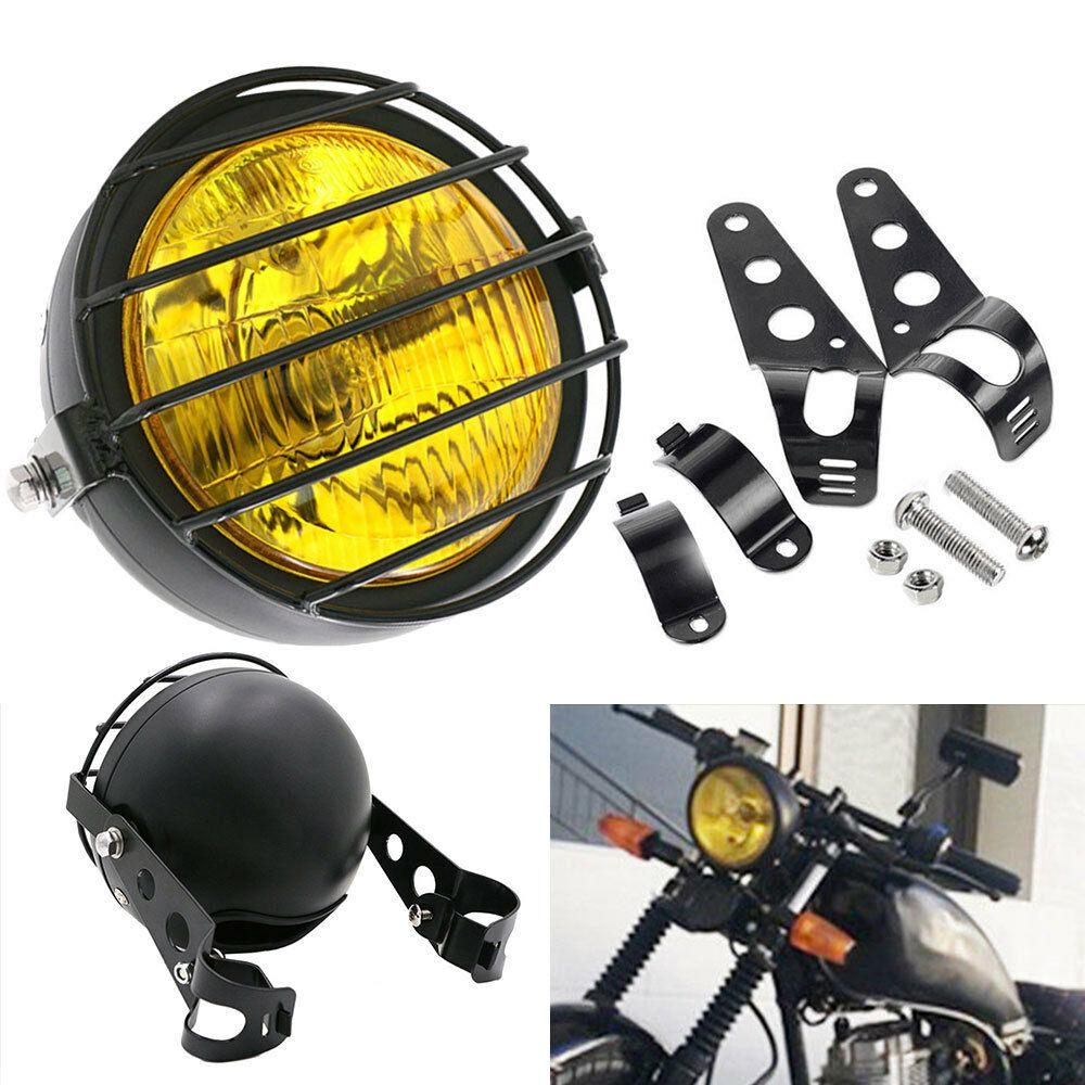 6-5-Inch-Retro-Motorcycle-Headlight-Grill-Side-Mount-Cover-with-Bracket-Motorcycle-Side-Mount-Headlight