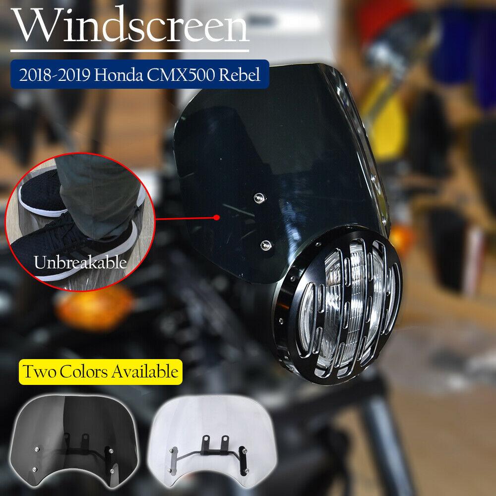 For-2018-2019-2020-Honda-Rebel-CMX-500-300-Windscreen-Windshield-Wind-Deflector-CMX500-CMX300-Flyscreen-1