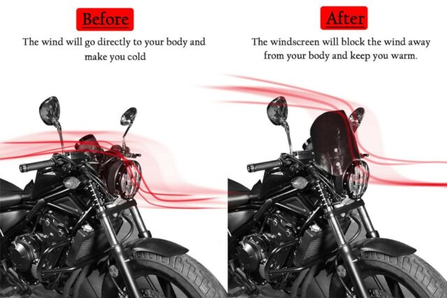 For-2018-2019-2020-Honda-Rebel-CMX-500-300-Windscreen-Windshield-Wind-Deflector-CMX500-CMX300-Flyscreen-2
