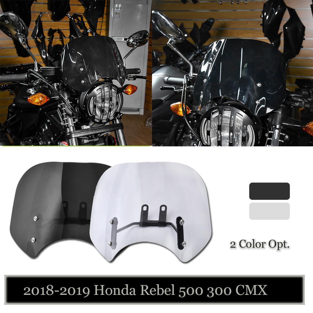 For-2018-2019-2020-Honda-Rebel-CMX-500-300-Windscreen-Windshield-Wind-Deflector-CMX500-CMX300-Flyscreen