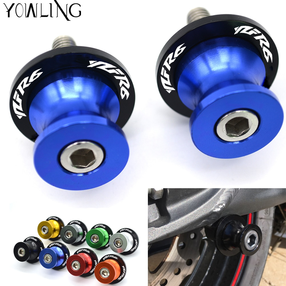 M6-Motorcycle-accessories-Swingarm-Spools-slider-stand-screws-for-yamaha-YZF-R6-1999-2000-2001-2002-6