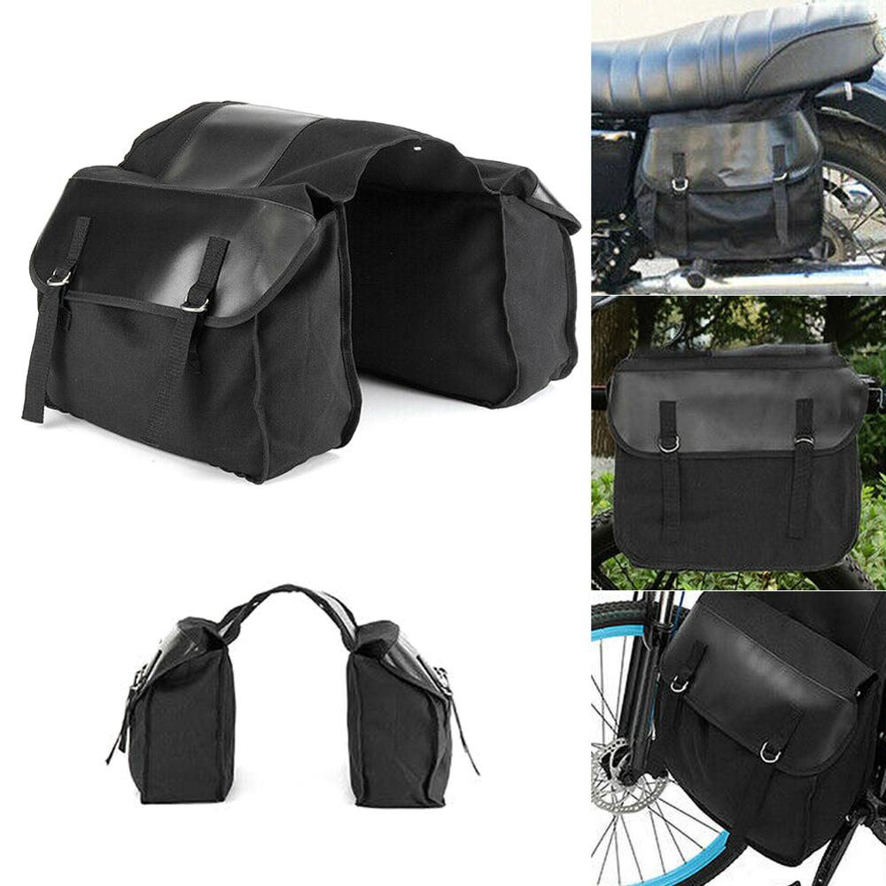Motorbike-Saddle-Bag-Motorcycle-Canvas-Black-Touring-Waterproof-Panniers-Box-Backseat-Saddle-Bag-Trunk-Luggage-Travel