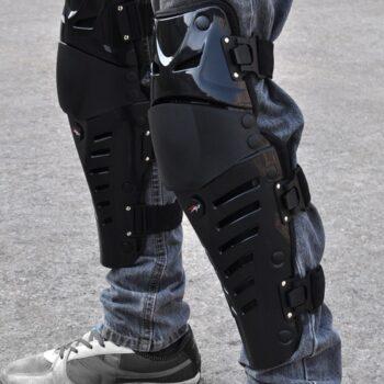 Motorcycle-knee-pads-Motorbike-knee-protection-pads-Motocross-Racing-Black-kneepads-Calf-protector-guards