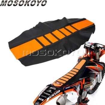 Orange-Motocross-Dirt-Bike-Seat-Cover-Pro-Ribbed-Gripper-Soft-Seat-Cover-for-KTM-EXC-XC