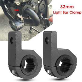 Pair-LED-Light-Bar-Mount-Brackets-25-32mm-Fog-Lamp-Driving-Light-Spotlight-Holder-Clamps-Universal