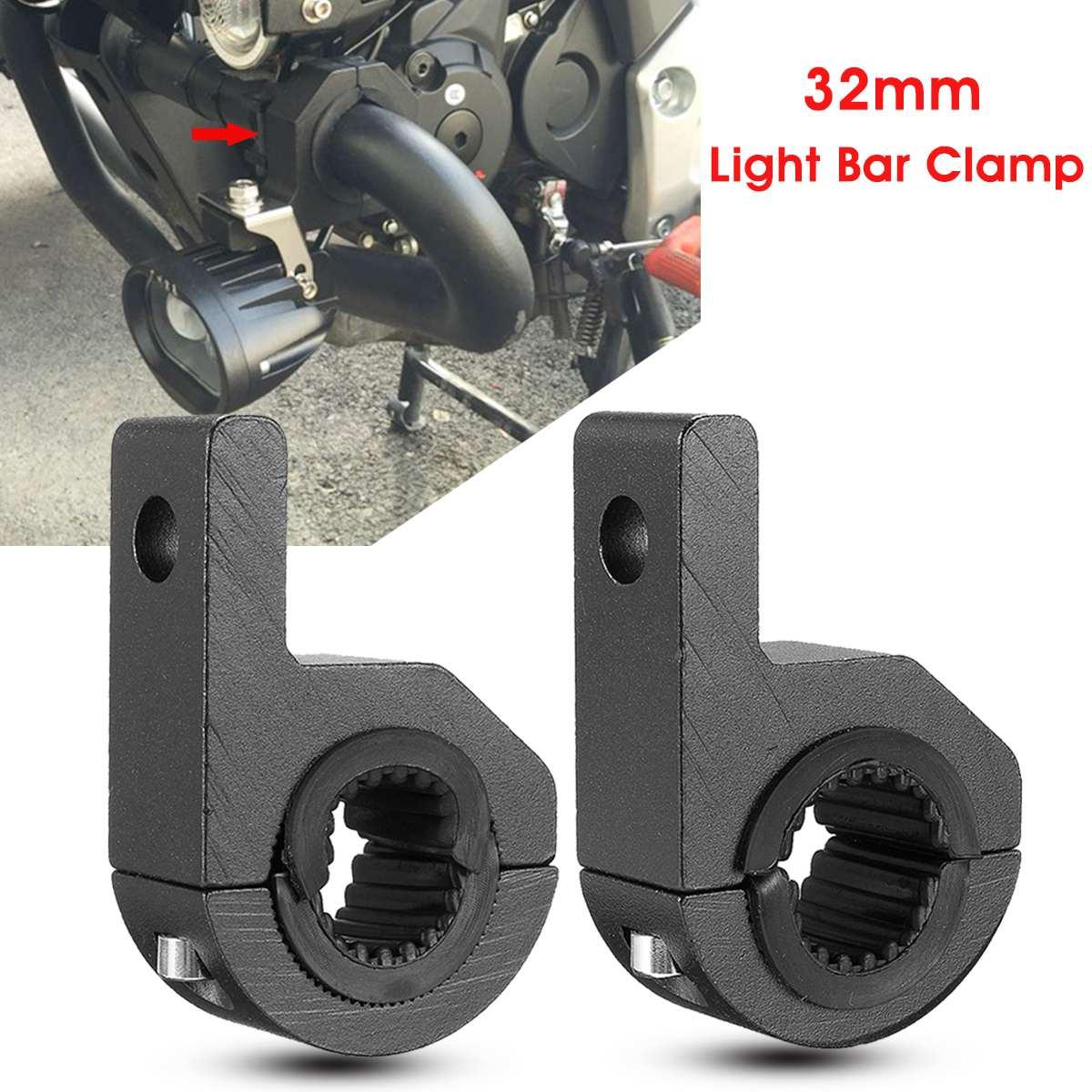 Pair-LED-Light-Bar-Mount-Brackets-25-32mm-Fog-Lamp-Driving-Light-Spotlight-Holder-Clamps-Universal
