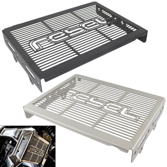 Radiator-Cooler-Grille-Guard-Cover-Frame-Protector-Stainless-Steel-For-HONDA-Rebel-CMX-300-500-CMX300