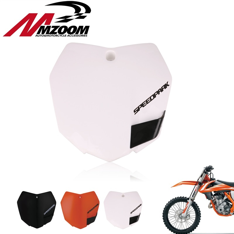 White-Orange-Plastic-Front-Name-Number-Plate-For-KTM-2013-15-SX-SXF-XCF-125-250