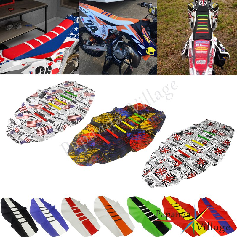 12-Colorful-Enduro-Motocross-Custom-Ribbed-Seat-Cover-Gripper-Traction-Seat-Pad-for-KTM-Honda-Kawasaki