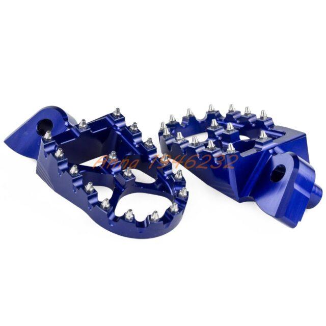57mm-7075-Blue-Wide-Footrests-Foot-Pegs-For-Yamaha-YZ85-YZ125-YZ250-YZ125X-YZ250X-YZ250F-YZ450F-1