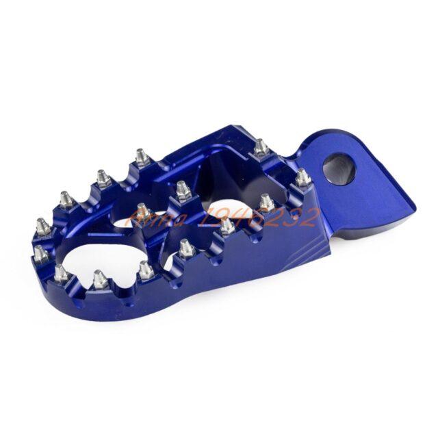 57mm-7075-Blue-Wide-Footrests-Foot-Pegs-For-Yamaha-YZ85-YZ125-YZ250-YZ125X-YZ250X-YZ250F-YZ450F-2