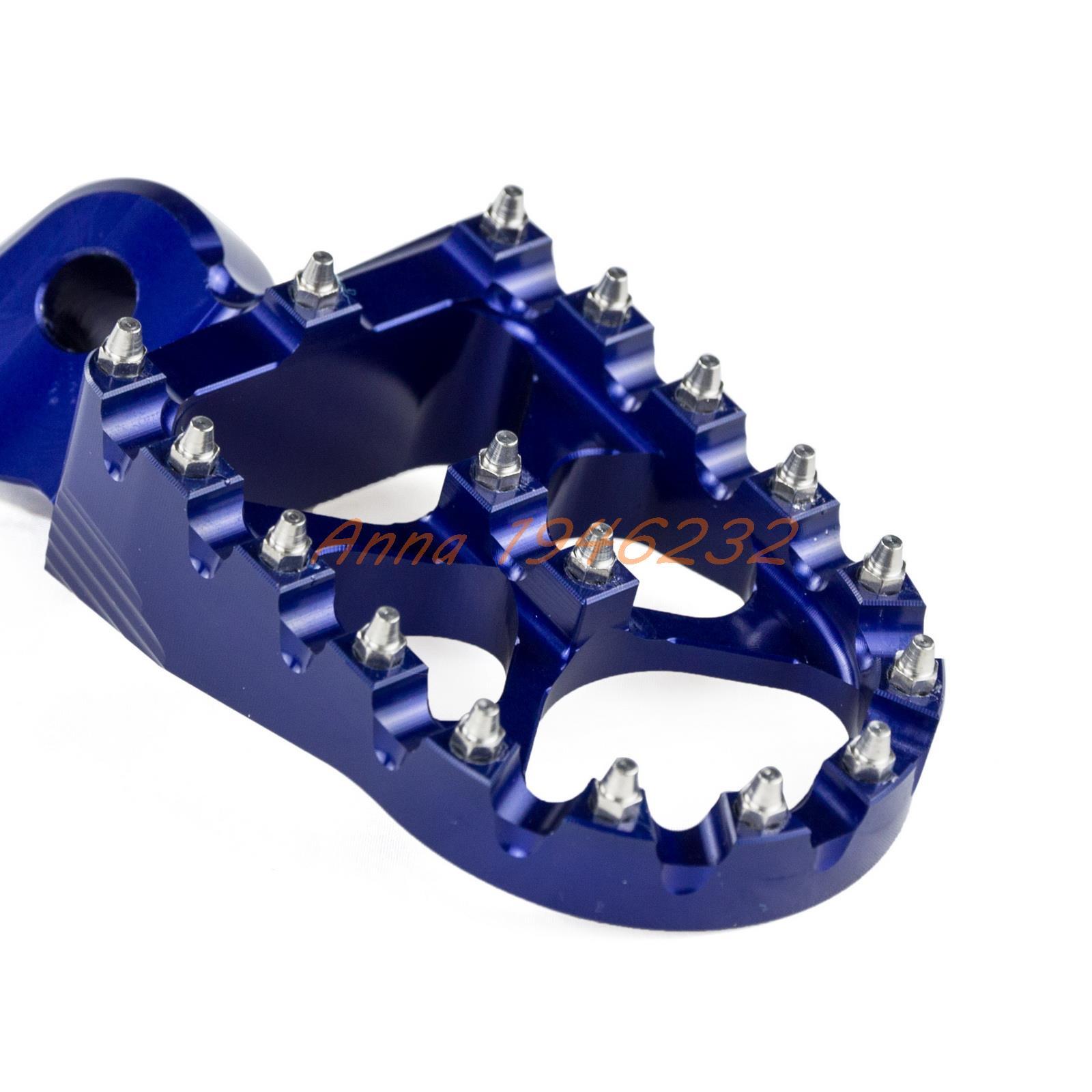 57mm-7075-Blue-Wide-Footrests-Foot-Pegs-For-Yamaha-YZ85-YZ125-YZ250-YZ125X-YZ250X-YZ250F-YZ450F-4