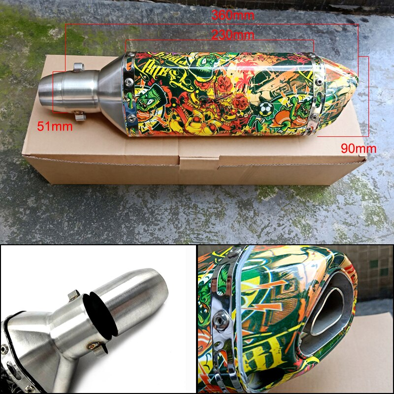 51MM-Muffler-For-Akrapovic-exhaust-pipe-Modify-Motorcycle-Motocross-escape-For-Kawasaki-ninja-MT-07-ATV-3
