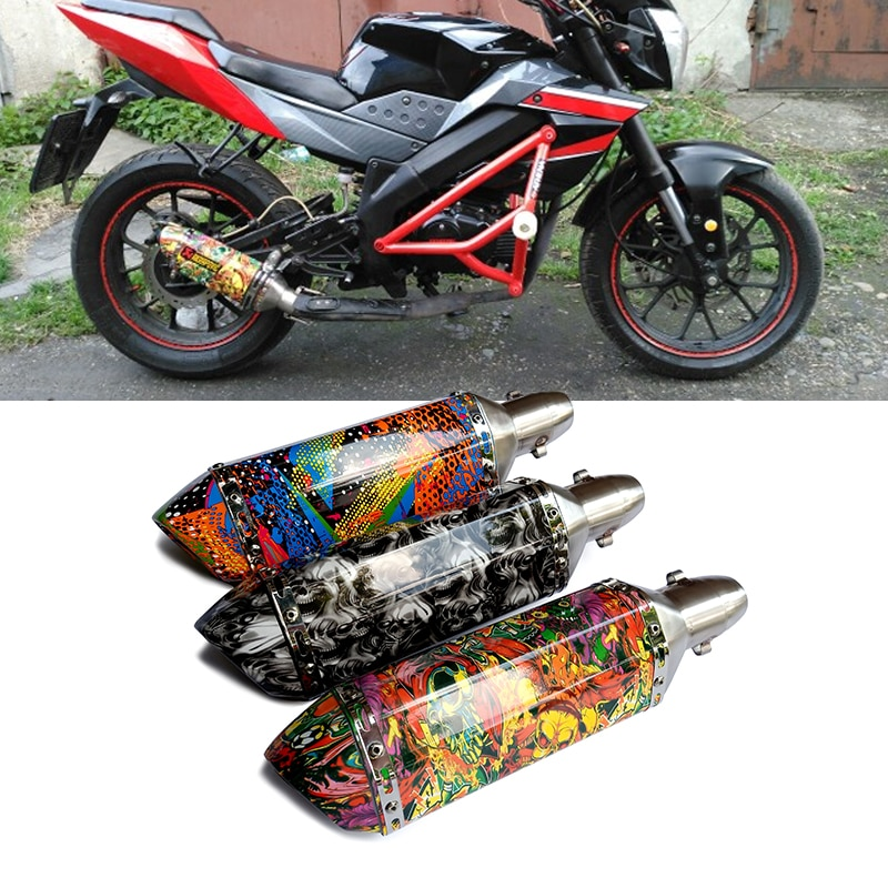 51MM-Muffler-For-Akrapovic-exhaust-pipe-Modify-Motorcycle-Motocross-escape-For-Kawasaki-ninja-MT-07-ATV