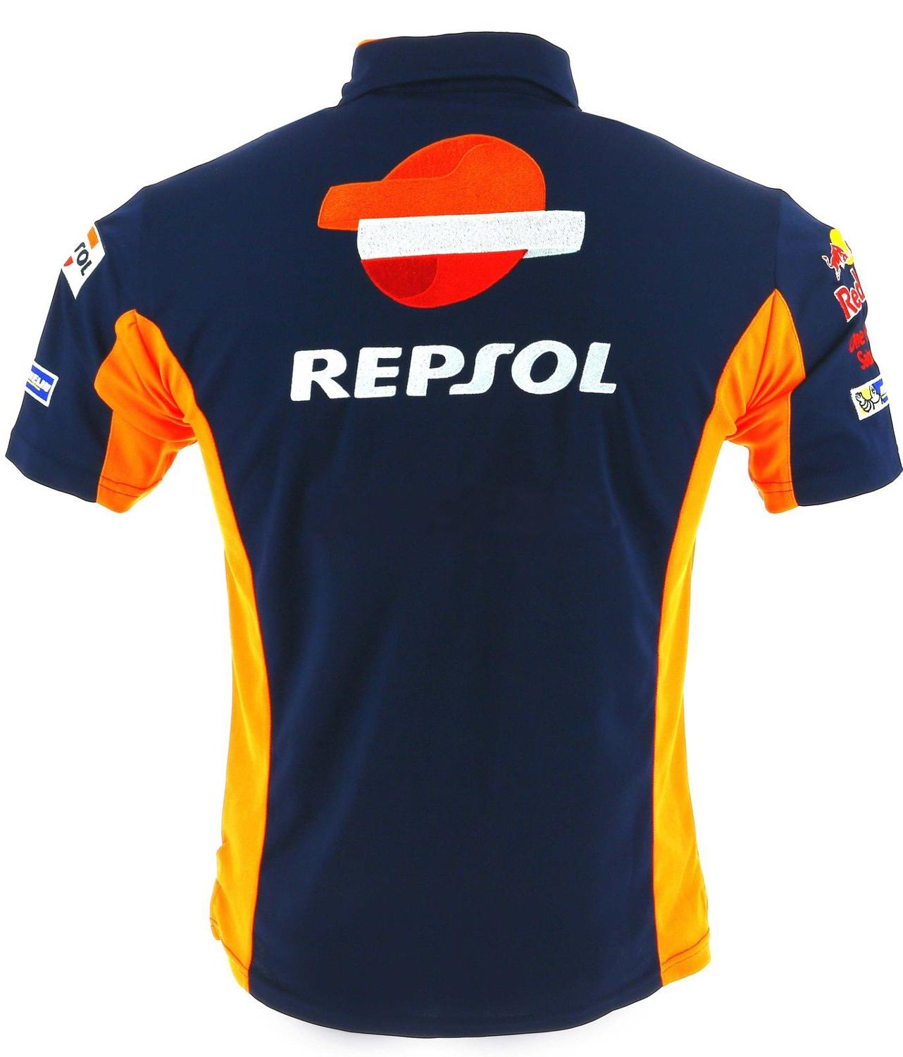 NEW-100-Cotton-Marquez-93-Repsol-HRC-Racing-Polo-For-Honda-Motorcycle-Racer-Team-Racewear-T-1