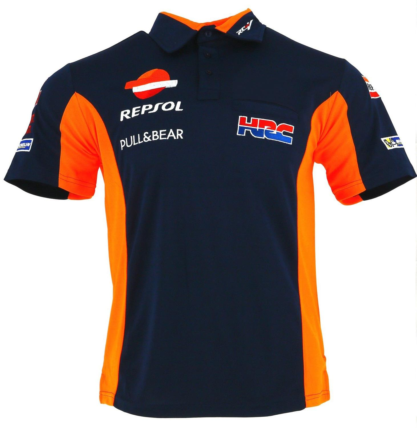 NEW-100-Cotton-Marquez-93-Repsol-HRC-Racing-Polo-For-Honda-Motorcycle-Racer-Team-Racewear-T